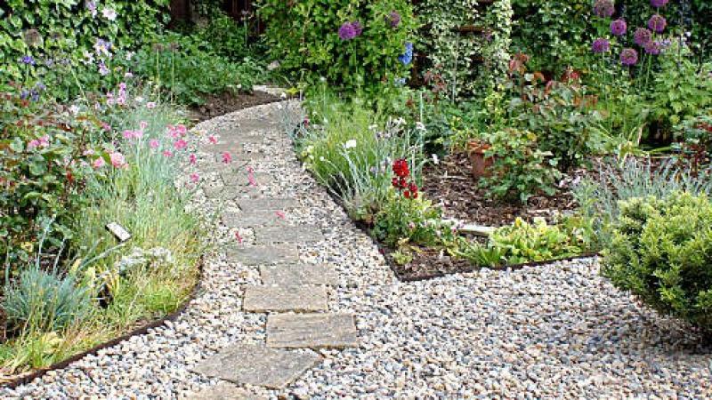 Garden with footpath